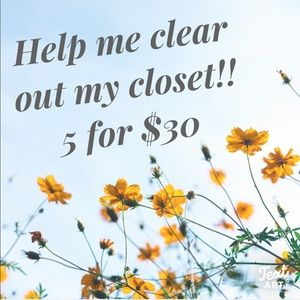 ✨🌈 5 for $30 🌈✨ Closet Clear Out!!!